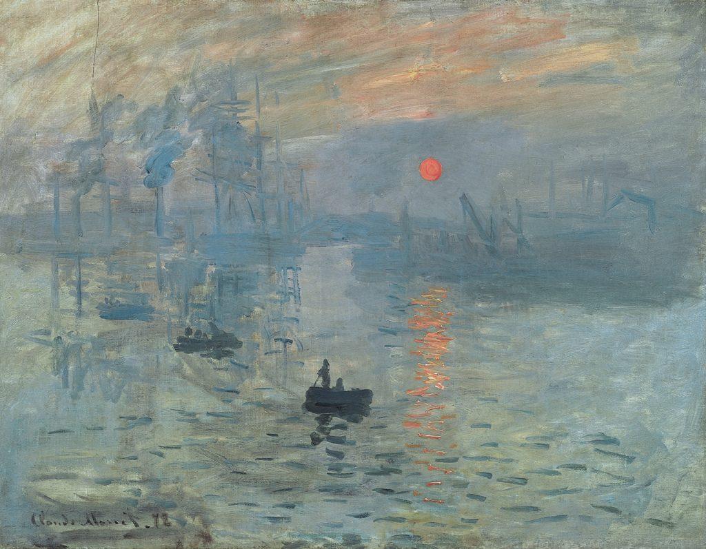 """""""Импресия, Изгряващо слънце"""" (Париж, 1872)"""