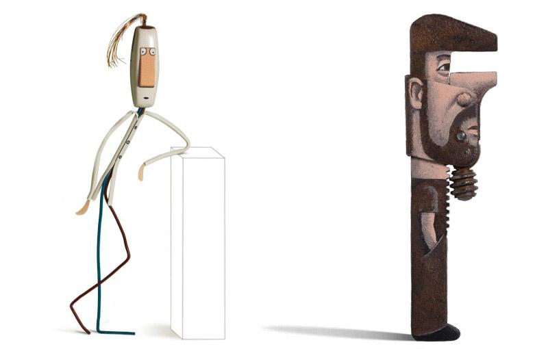 Креативно изкуство. Забавните персонажи на Жилбер Легранд.