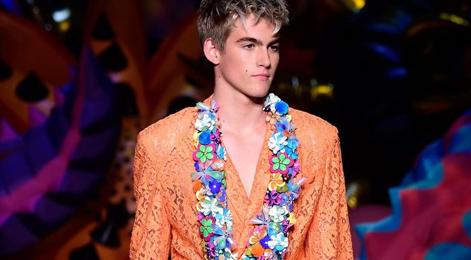 Пресли Гербер - синът на Синди Крауфорд дебютира на модния подиум