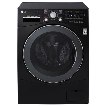 Пералня със сушилня LG FH4A8FDH8N, Inverter Direct Drive, Пране 9 кг/ Сушене 6 кг, 1400 об/мин, Клас B, Черна
