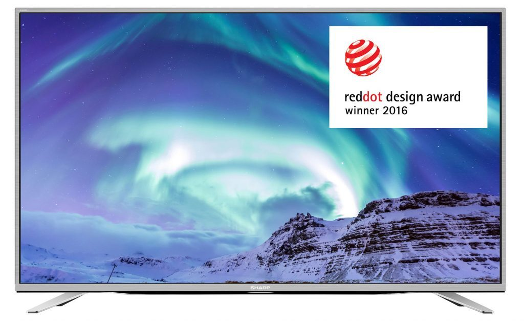 "Телевизор LED Smart Sharp, 55"" (139 см), LC-55CUF8462ES, 4K Ultra HD"