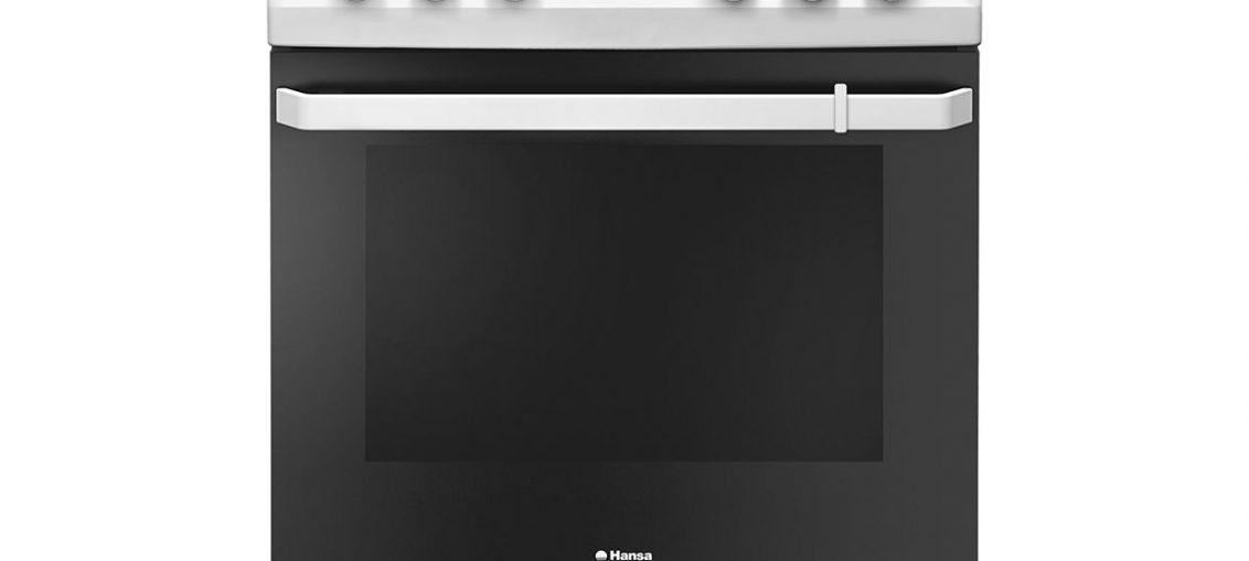 Ел. печка Hansa FCCW69209, 4 Нагревателни зони, Ел. фурна, Функция грил, Клас A++, Бяла