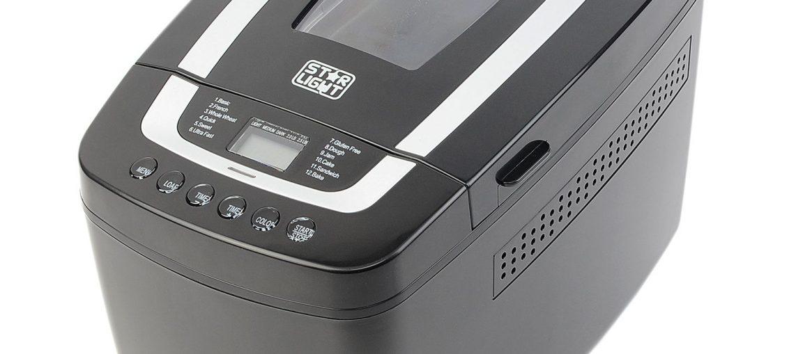 Хлебопекарна Star-Light MPD-800W, 12 програми, 1000 гр, Черна
