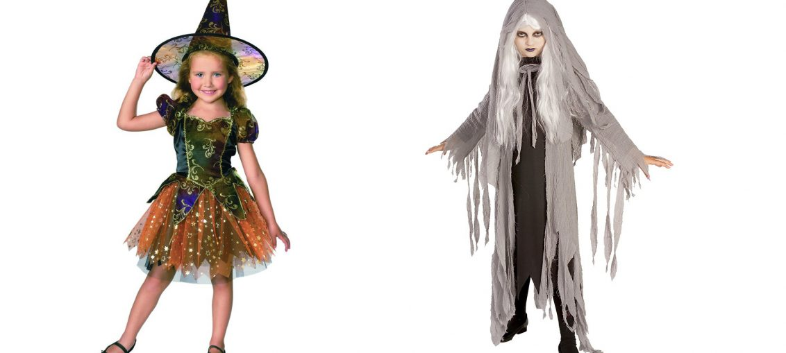 Карнавален костюм Вещица. Детски костюм Вещица за момичета