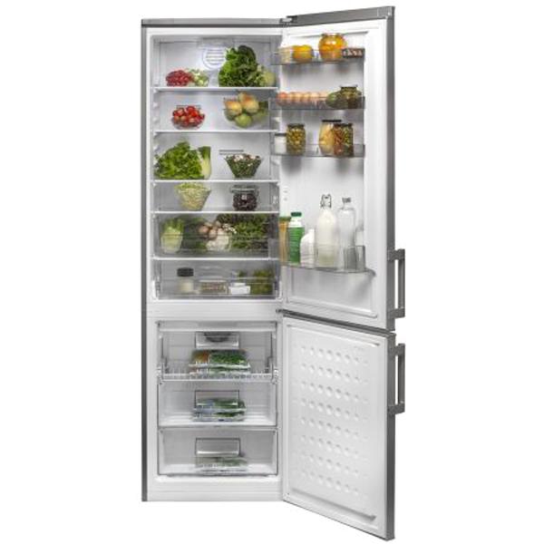 Хладилник с фризер Arctic ANK366NFS+, 321 л, Клас A+, No Frost, H 201 см, Silver