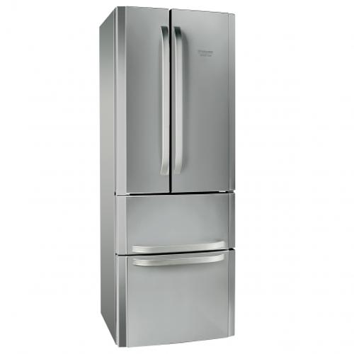 Хладилник Hotpoint-Ariston Quadrio E4DAAXC, Капацитет 470 литри, Клас A+, Full No Frost, H 195.5 cм, Инокс