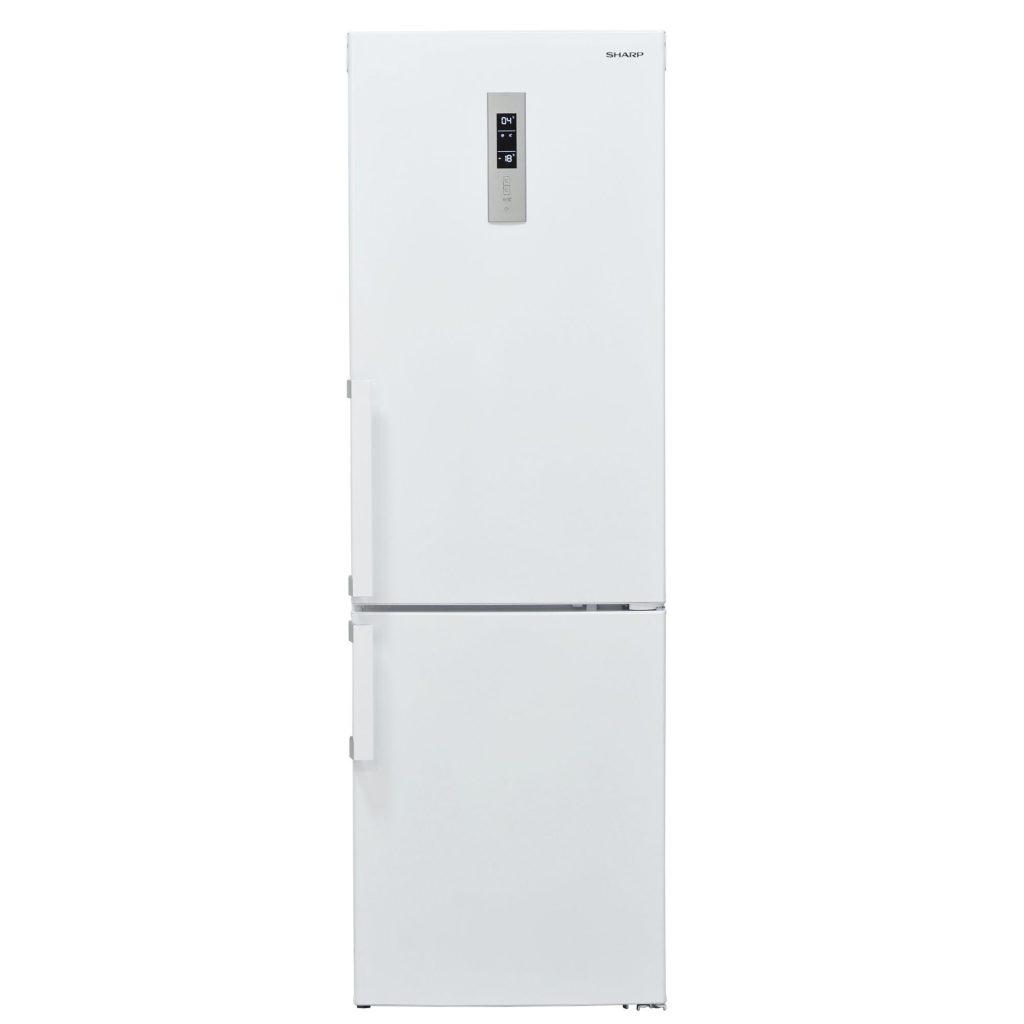 Хладилник с фризер Sharp SJ-B2297E0WEU, 297 л, No Frost, Клас A++, Дисплей, H 186 см, Бял