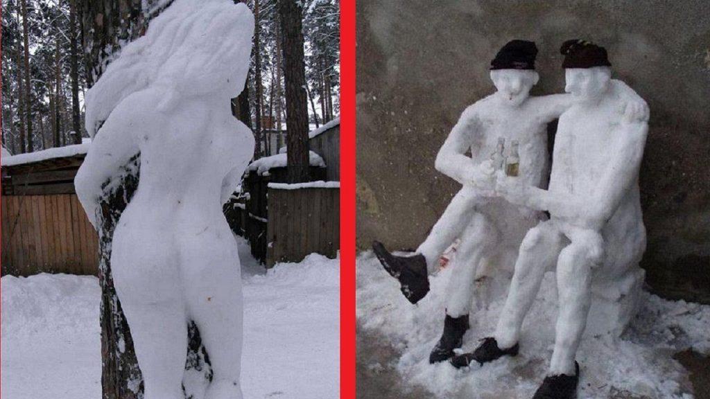 Най-забавните и креативни идеи за снежни човеци