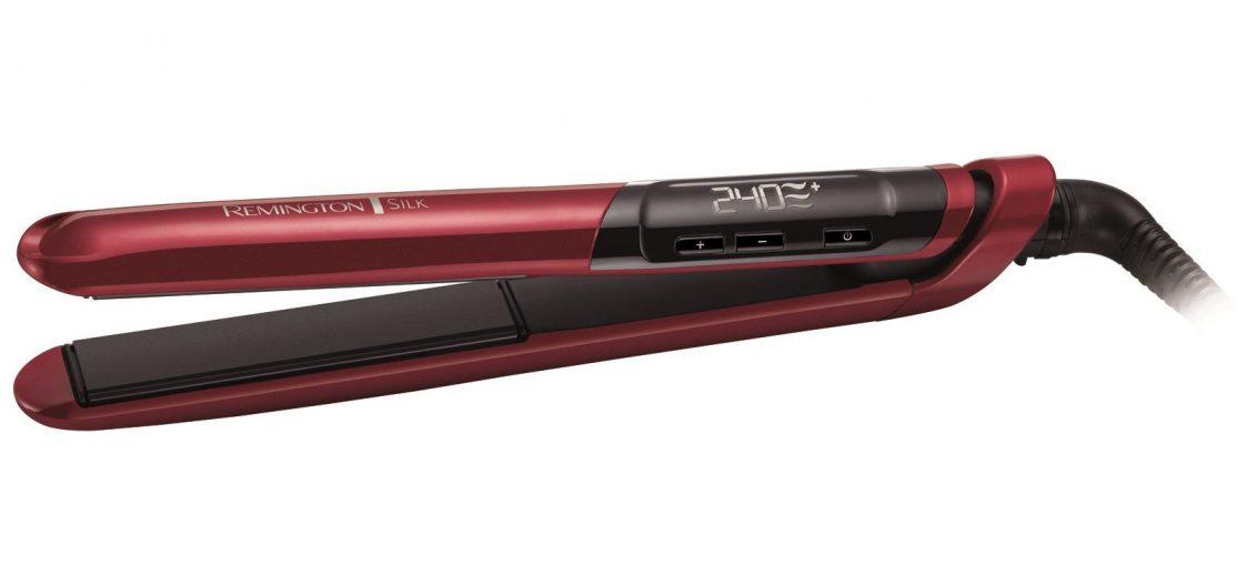 Преса за коса Remington S9600, LCD, 240 градуса, Керамично покритие, Регулируема температура, Авт. изключване, Червена