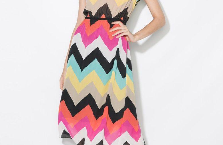 Цветна рокля с графичен десен Zee Lane Collection