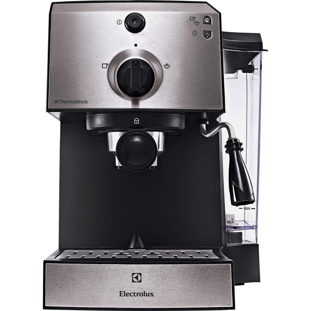 Еспресо машина Electrolux EEA111, 1470 W, 15 бара, 1.25 л, Черна/Сребриста