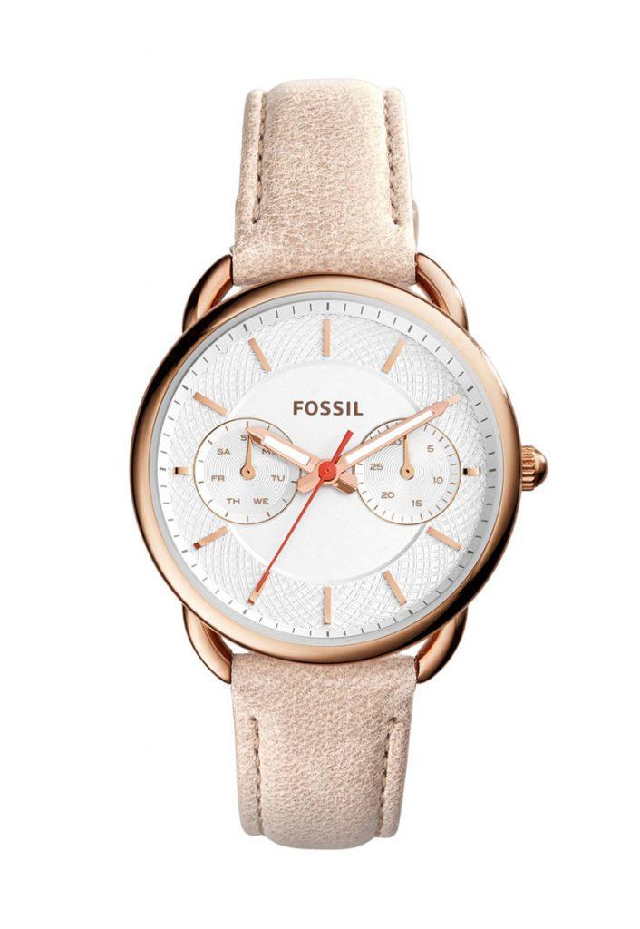 Часовник в розово-златисто и бяло Fossil