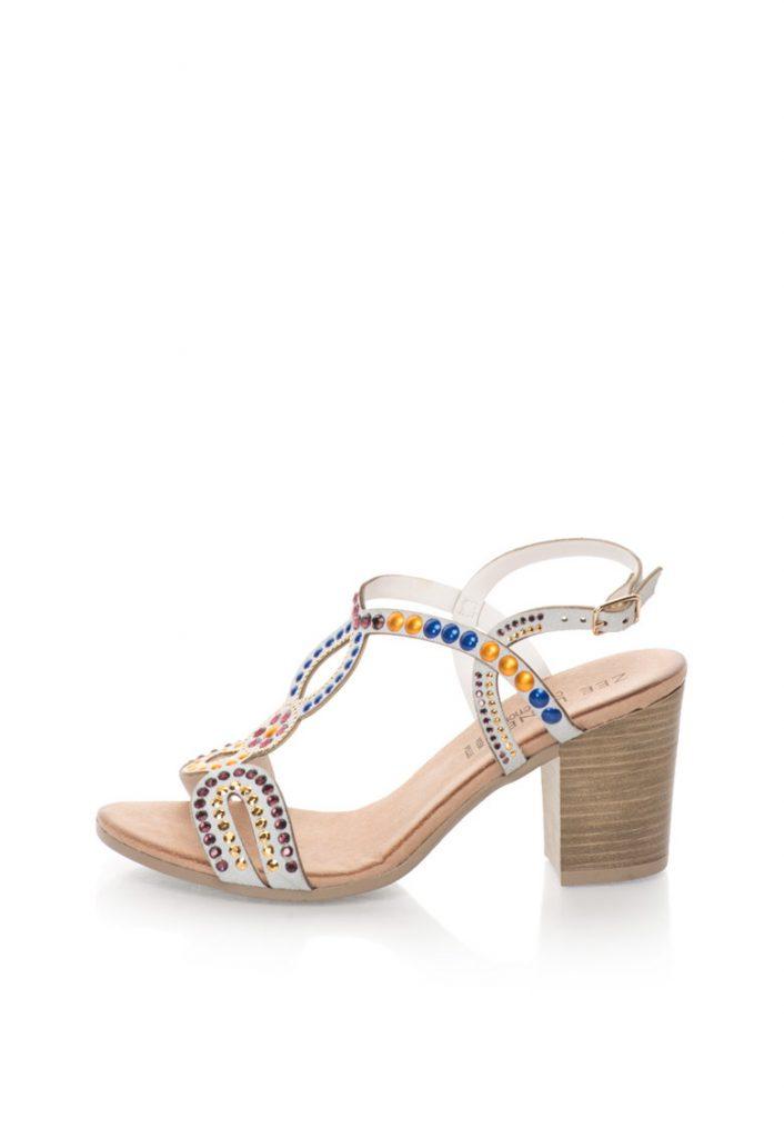 Перленосиви велурени сандали с масивен ток Zee Lane Collection